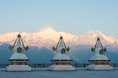DEQIN, CHINA - MAR 16 2015: Morning View of Meili Snow Mountain Royalty Free Stock Image
