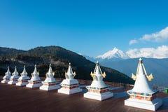 DEQIN, CHINA - MAR 16 2015: Pagoda at Meili Snow Mountain Nature Royalty Free Stock Photos