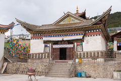 DEQIN, CHINE - 3 août 2014 : Temple de Feilai un monastère célèbre dedans Images stock