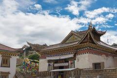 DEQIN, CHINE - 7 août 2014 : Temple de Feilai un monastère célèbre dedans Images libres de droits