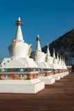 DEQIN, CHINE - 16 MARS 2015 : Pagoda à la nature de montagne de neige de Meili Photographie stock libre de droits