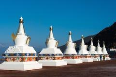 DEQIN, CHINE - 16 MARS 2015 : Pagoda à la nature de montagne de neige de Meili Photographie stock