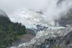 DEQIN CHINY, Aug, - 5 2014: Minyong lodowiec sławny krajobraz ja Zdjęcie Royalty Free