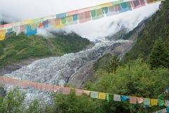 DEQIN CHINY, Aug, - 5 2014: Minyong lodowiec sławny krajobraz ja Fotografia Royalty Free