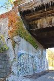 Dequindre Rżnięty Greenway w Detroit Fotografia Stock