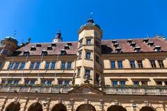 der德国ob rothenburg tauber townhall 免版税库存照片