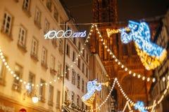 Der älteste Weihnachtsmarkt in Europa - Straßburg, Elsass, Fran Lizenzfreie Stockbilder