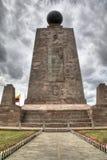Der Äquator bei Mitad Del Mundo lizenzfreies stockbild