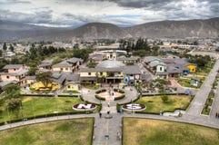 Der Äquator bei Mitad Del Mundo lizenzfreie stockbilder