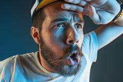 Der Ärger und der schreiende Mann Lizenzfreies Stockbild