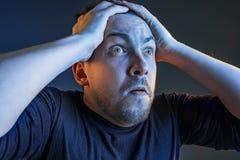 Der Ärger und der schreiende Mann Stockbild
