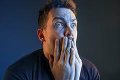 Der Ärger und der schreiende Mann Lizenzfreie Stockfotografie