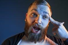 Der Ärger und der schreiende Mann Stockfotografie