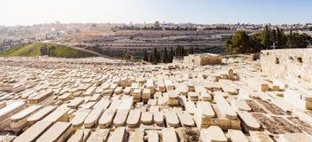 Der Ölberg und der alte jüdische Kirchhof in Jerusalem, Israel Lizenzfreie Stockbilder