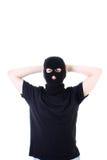 Der übergebene Verbrecher in einer Schablone lizenzfreies stockfoto