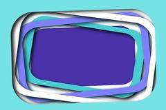 Der überlagerte Spaß gestaltet Hintergrund Cyan-blau, weiß, Purpur lizenzfreie stockfotos