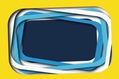 Der überlagerte Spaß gestaltet Hintergrund Gelb, weiß, blau stockbilder