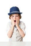 Der überraschte Junge Lizenzfreie Stockfotos