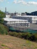 Der überschüssigen Abfallverwertungsanlage Stockbild