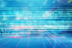 Der übertragende Hightechhintergrund der Daten und der Informationen vektor abbildung