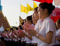 Der 82. Geburtstag von H.M. der König von Thailand Lizenzfreie Stockbilder