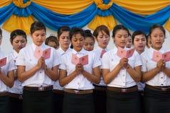 Der 82. Geburtstag von H.M. der König von Thailand Lizenzfreies Stockbild