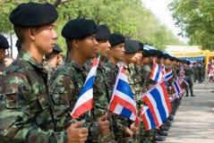 Der 82. Geburtstag von H.M. der König von Thailand Stockfotografie
