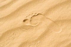 Der Abdruck im Sand Lizenzfreie Stockbilder