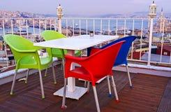 Der Abend auf dem Istanbul-Dach Lizenzfreies Stockbild