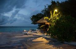 Der Abend in den Malediven Lizenzfreie Stockbilder