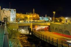 Der Abend an der des Davids Festung Stockfotos