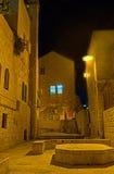 Der Abend im jüdischen Viertel Stockbild