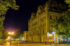 Der Abend im Odessa Stockbild