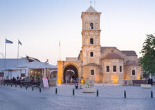Der Abend in Larnaka Stockfotografie