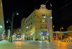 Der Abend in modernem Jerusalem Lizenzfreie Stockfotografie