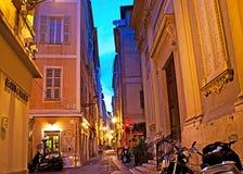 Der Abend in Nizza Lizenzfreie Stockfotos