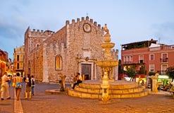 Der Abend in Taormina Lizenzfreie Stockfotos