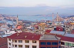 Der Abenddunst in Istanbul Stockfoto
