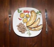 Der Abendessenteller Lizenzfreie Stockbilder