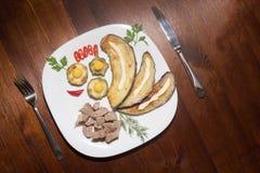 Der Abendessenteller Stockfotos