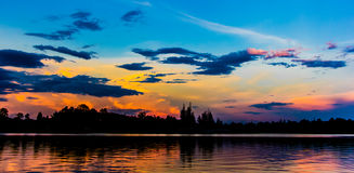 Der Abendhimmel Stockfotografie