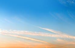 Der Abendhimmel Stockbilder