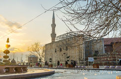 Der Abendpark in Ankara Stockfotografie