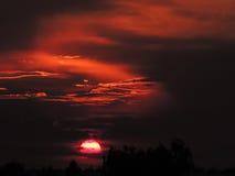 Der Abendsonnenuntergang Stockbilder