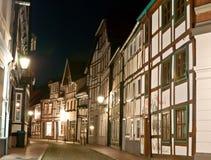 Der Abendweg in Hamelin Lizenzfreies Stockfoto