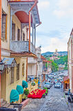 Der Abfall von Sololaki-Hügel in Tiflis Lizenzfreie Stockbilder