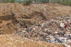Der Abfallbeseitigungsteich Stockbilder