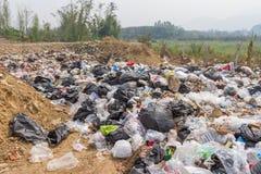 der Abfallbeseitigungsteich in Pai, Thailand Lizenzfreies Stockfoto