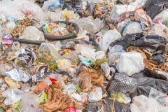 der Abfallbeseitigungsteich in Pai, Thailand Stockfotografie