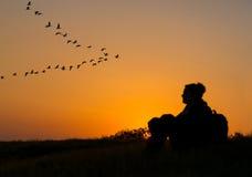 Der abgehende Tag, Sonnenuntergang Stockfotos